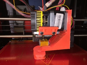 Fanduct for Geeetech Prusa i3 Pro B, single MK8 extruder, 40mm fan