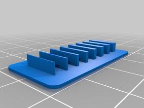 My Customized Wall / Gap Test Print 0.25..2mm step 0.25