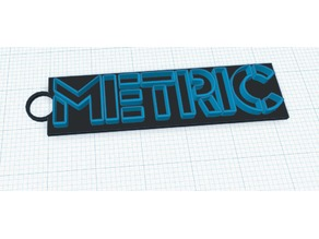 Metric band logo keychain