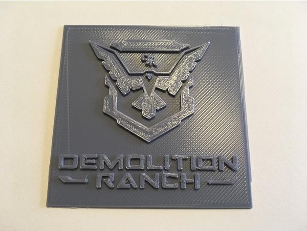 Demolition Ranch Logo By Dramatix084 Thingiverse