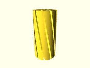 Spiral vase linear bushing