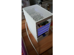1-to-4 HDD Stackable Raspberry NAS with PSU v1