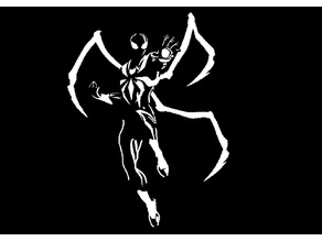Iron spider stencil