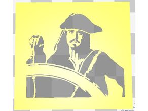 JACK SPARROW PIRATES OF THE CARIBBEAN STENCIL