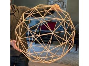 Geodesic Sphere (Printed connectors + straws)