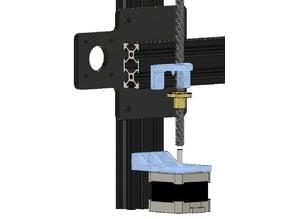 x-bar bracket and z-motor mount for reversed EZGimbal