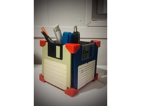 Old Floppy Disk (Diskette) Pen Holder