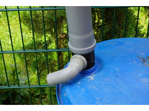 Barrel connection for rainwater