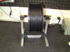 Extruded Aluminum Kossel Filament Spool Holder Free Standing