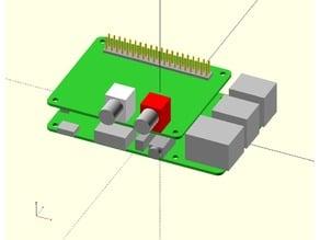 Open SCAD Raspberry PI3 model