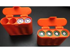 18640 & 21700 Box, 4 Cells, Hinged Lid