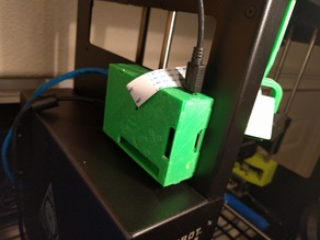 Raspberry Pi 2 lulzbot mini mounted case