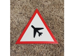 Triangle Plane Sign