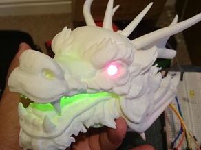 Dragon Head - With Glowing eyes and mouth