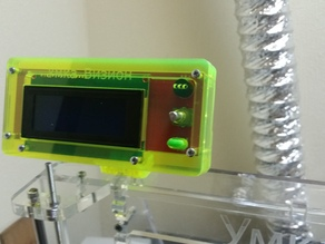 RepRap Discount LCD Screen LaserCut Wood or Plexiglass Case-cover with mount for Prusa I3 or any other 3d Printer