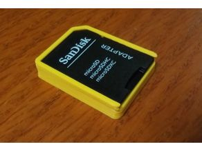 MicroSD box with SD lid