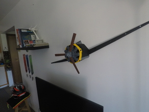 old airplane/radial engine wall decoration