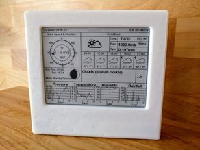 "4.2"" E-Paper Weather Station w/ ESP32 - Case"