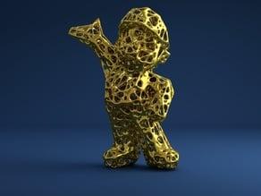 Super Mario Voronoi Style