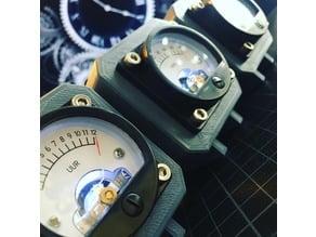 Analog Volt Meter Clock