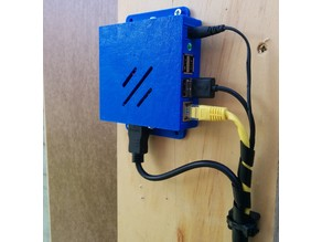 Raspberry Pi Case - Wall Or Monitor Mounted With HDMI Option