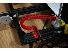 Creality CR-10S Y axis cable drag chain and Strain relief