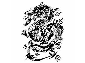 Chinese dragon stencil 2