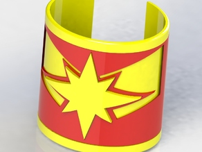 Captain Marvel Inspired Bangle