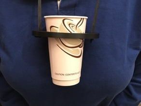 Cup Holder for people using crutches.