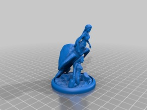 Isabella - Sea Turtle Mermaid - Dungeons and Dragons Miniature
