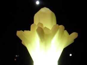 Quartz crystal clump