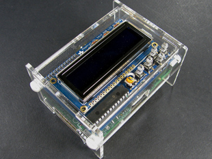 Raspberry Pi with Adafruit LCD Pi Plate Enclosure