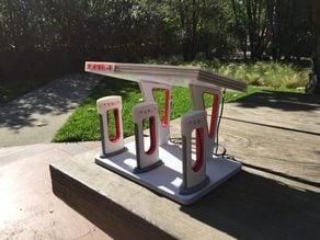 Mini Solar Powered Tesla Supercharger Station