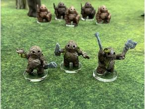 Clod Soldiers with modular hand Weapons (28mm/32mm scale)