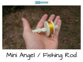 Mini Fishing Rod (One piece - Easy to print)