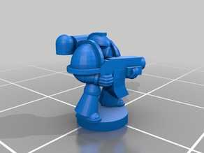 Tactical Space Marine for Epic 40K (6mm scale)