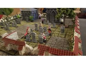 RPG Graveyard tiles and tombstones