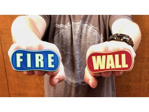 "Firewall gangsta rings ""FIRE"" ""WALL"" multimaterial"