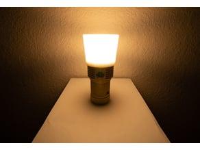 Flashlight lantern diffuser for Emisar D18 58mm bezel torch