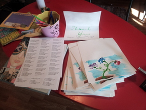 WaterColorBot Thank You Flowers