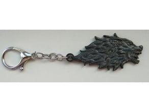 Wolf's head keychain