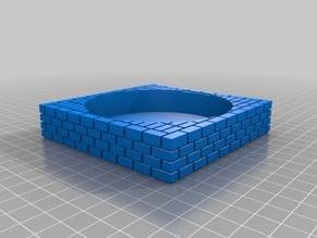 Super Mario Warp Tube Planter Square Solid Bottom Brick Tray