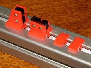 "1.5"" 8020 limit switch and rail slot clips"