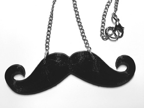 Moustache/Mustache Movember Necklace Pendant