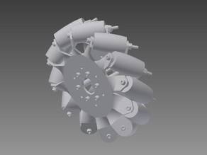 Fully Printable Mecanum Wheels