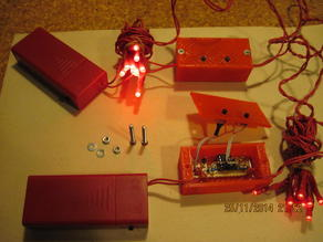 LED string with timer and printed case