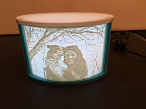 Lithophane Frame Curved