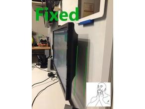 Tilted monitor wall mount rotation - vesa 100x100
