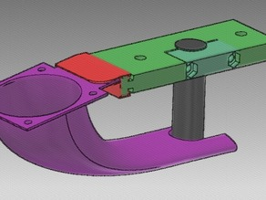 J-HEAD securer with 40mm fan. Wade's Extruder compatible.