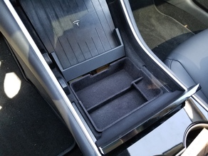 Tesla Model 3 Center Console Tray (Modified from jonco223)